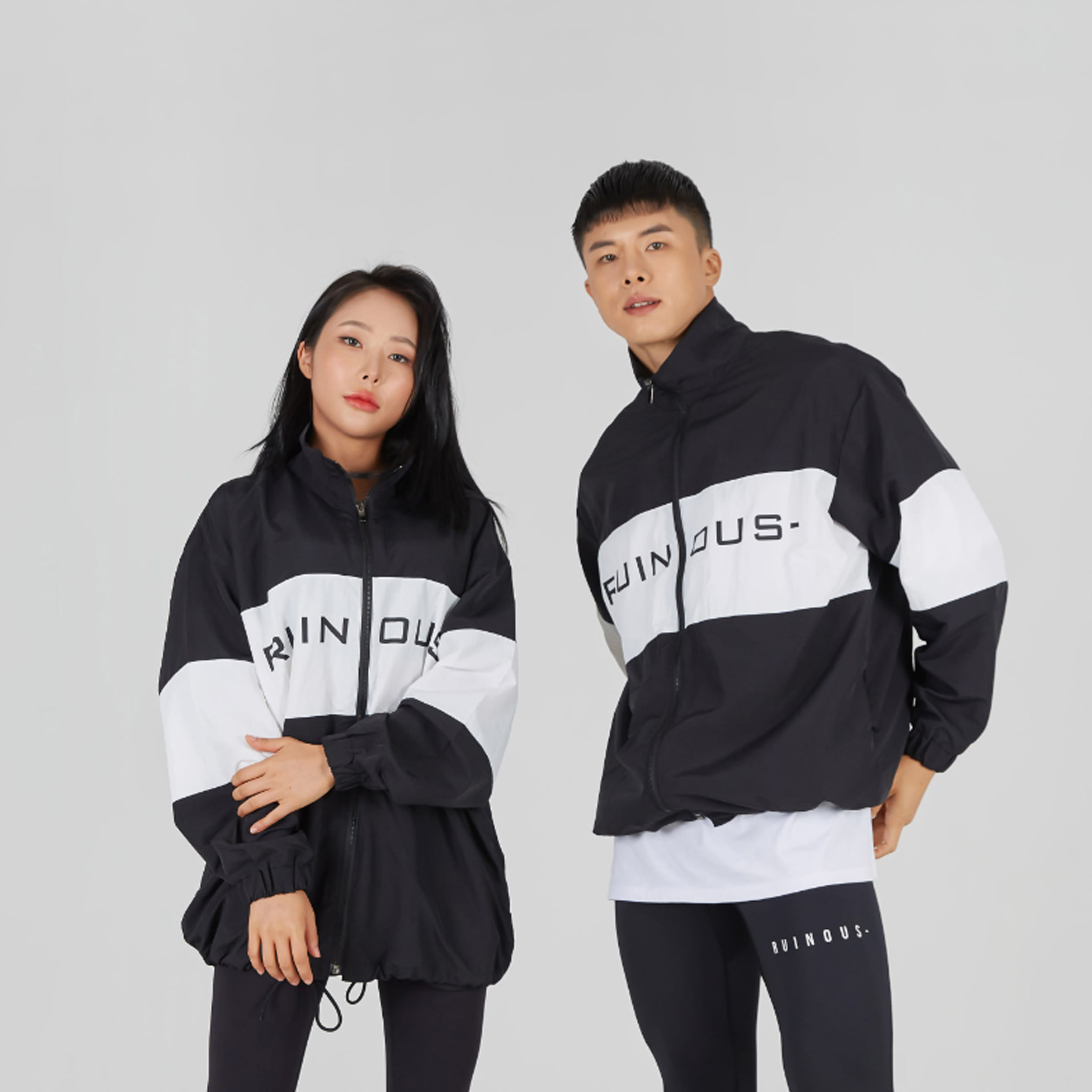 키스멀티샵 루이너스 REFLECTIVE BIG LOGO WINDBREAKER (BLACK)